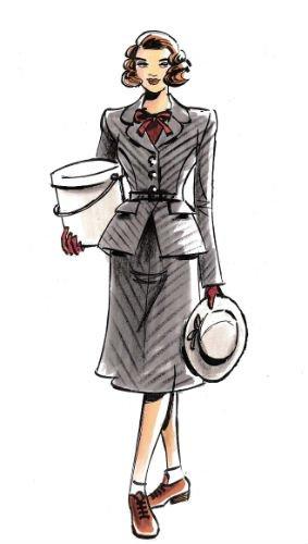 jaren 40 kleding dames